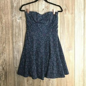 American Eagle Outfitters Blue Geo Dot Dress